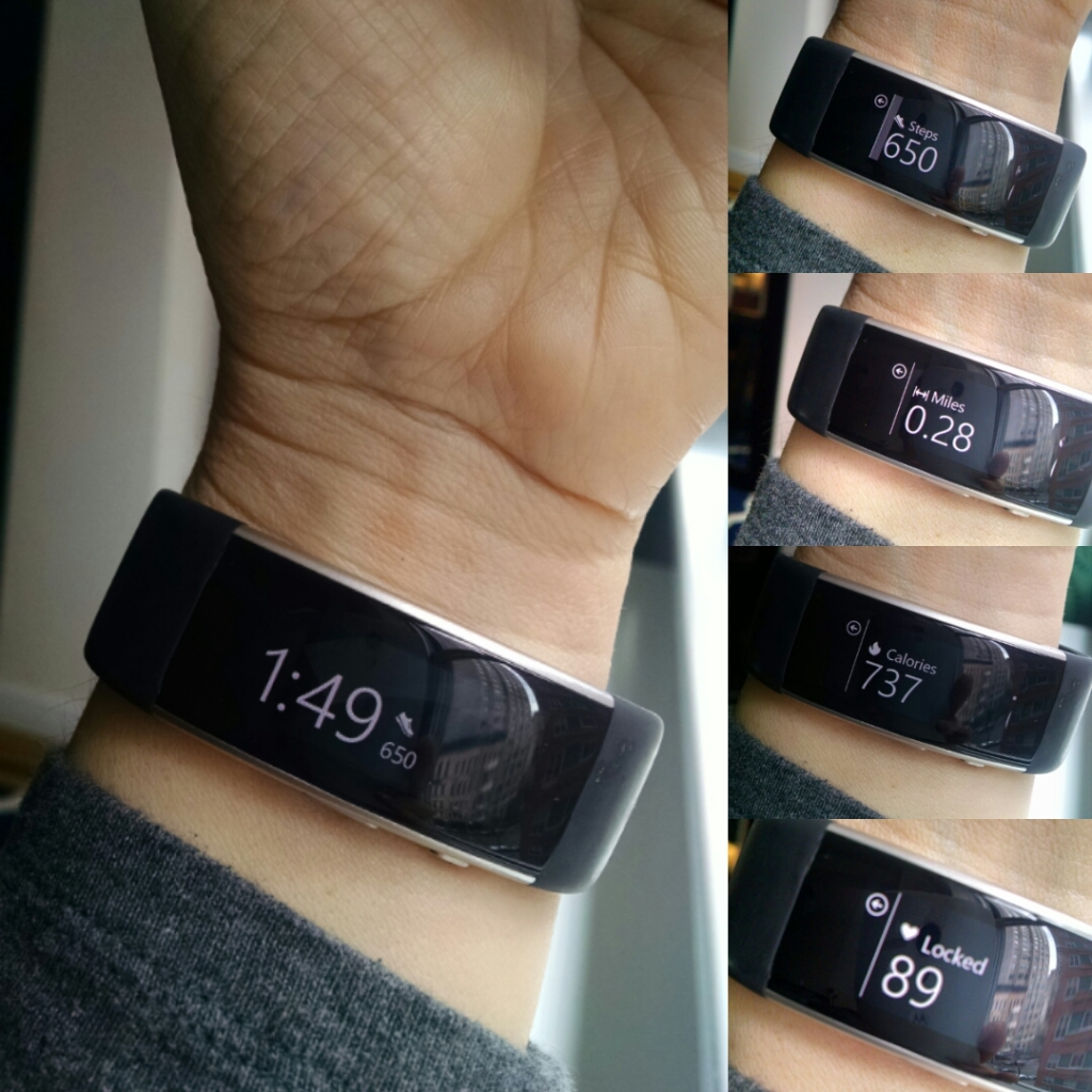 The display on the Microsoft Band