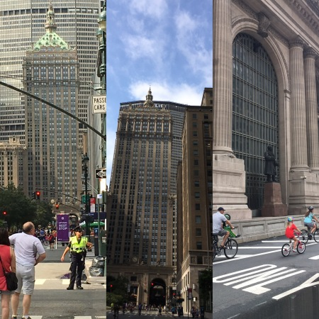 3 pictures of a closed park avenue