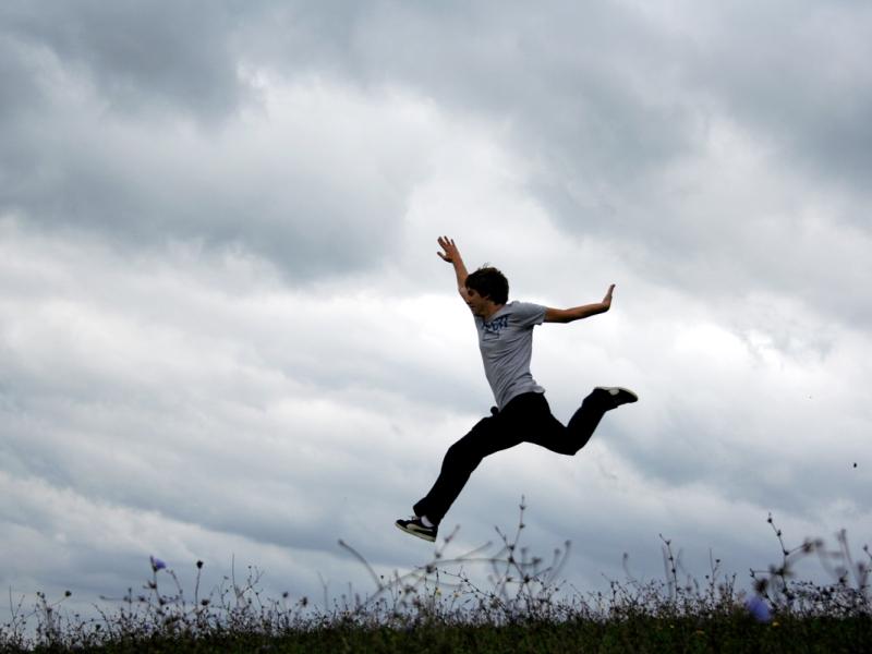 Man leaping by Gözde Otman