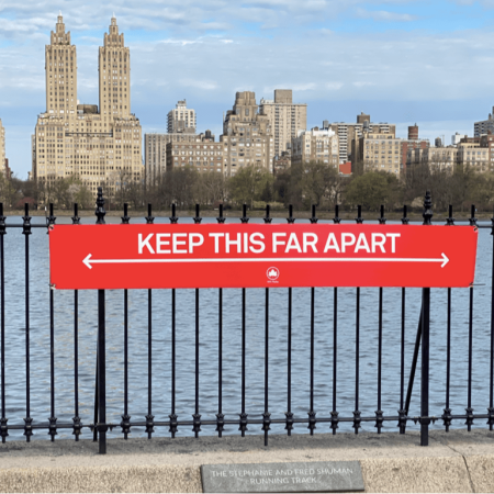 Social Distance at Central Park reservoir